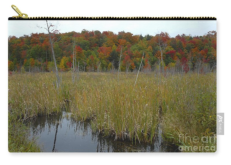 Cattails Carry-all Pouch featuring the photograph Cattails by David Lee Thompson