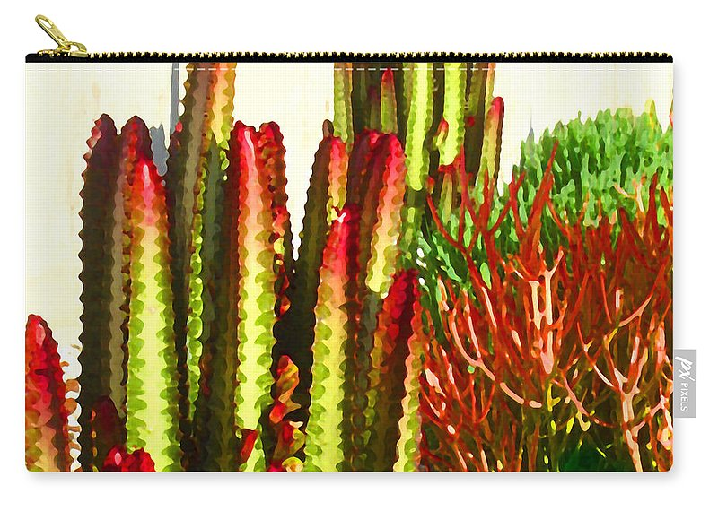 Landscape Carry-all Pouch featuring the painting Catus Garden by Amy Vangsgard