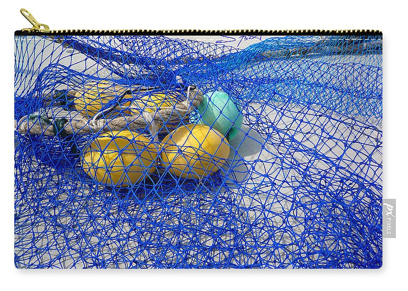 Fishing Net Carry-all Pouch featuring the photograph Caught by Charles Stuart