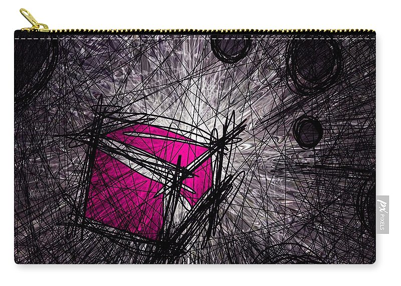 Abstract Carry-all Pouch featuring the digital art Caught In A Web by Rachel Christine Nowicki
