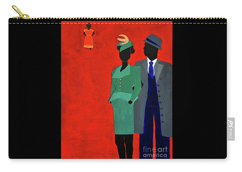 Harlem Carry-all Pouch featuring the painting Caught by Kafia Haile