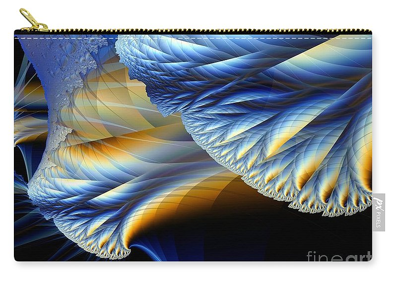 Fractal Image Carry-all Pouch featuring the digital art Cauliflower From Other Dimensions by Ron Bissett