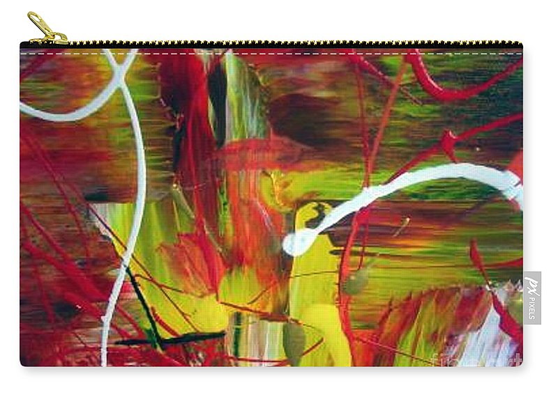 Caution Carry-all Pouch featuring the painting Caution by Dawn Hough Sebaugh