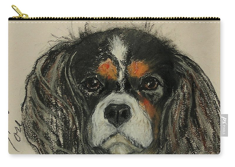 Cavalier Carry-all Pouch featuring the drawing Cavalier by Cori Solomon