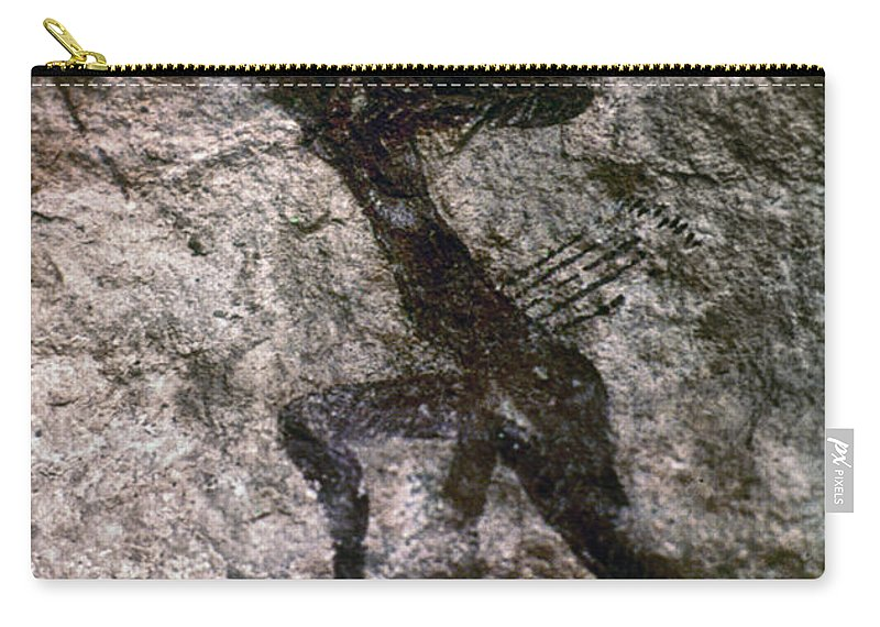 African Carry-all Pouch featuring the photograph Cave Art, Algeria by Granger