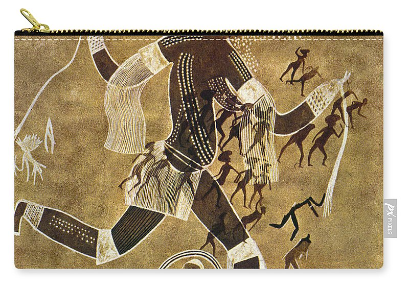 African Carry-all Pouch featuring the photograph Cave Art by Granger