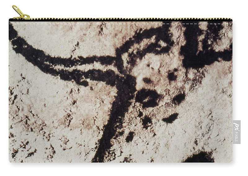 Bull Carry-all Pouch featuring the photograph Cave Art: Lascaux by Granger