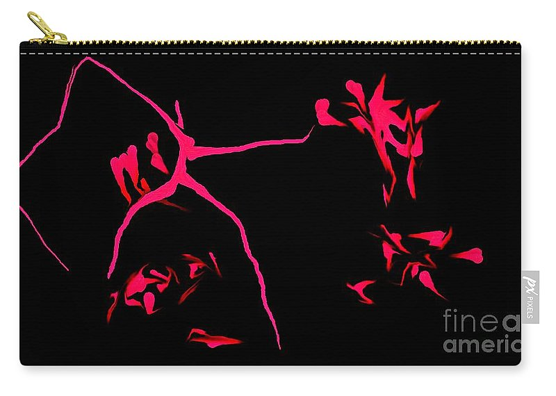 Abstract Carry-all Pouch featuring the digital art Cave Drawings by David Lane