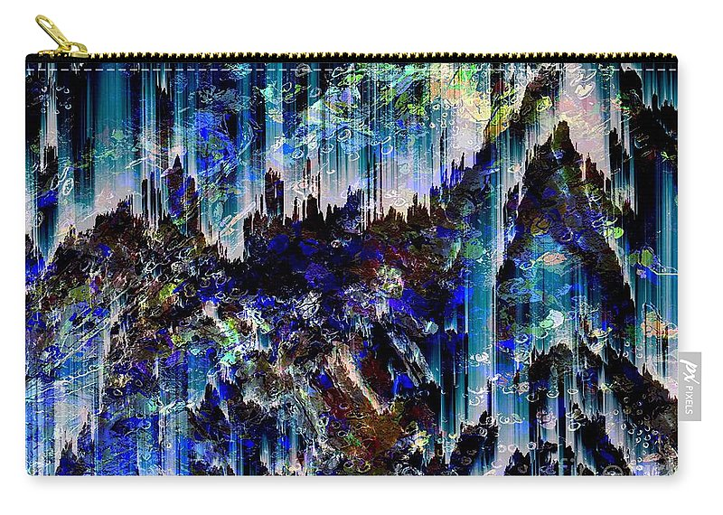Abstract Carry-all Pouch featuring the digital art Cavern by Cooky Goldblatt