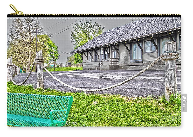 Cayuga Carry-all Pouch featuring the photograph Cayuga Offices by William Norton