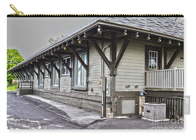 Cayuga Carry-all Pouch featuring the photograph Cayuga Town Hall by William Norton