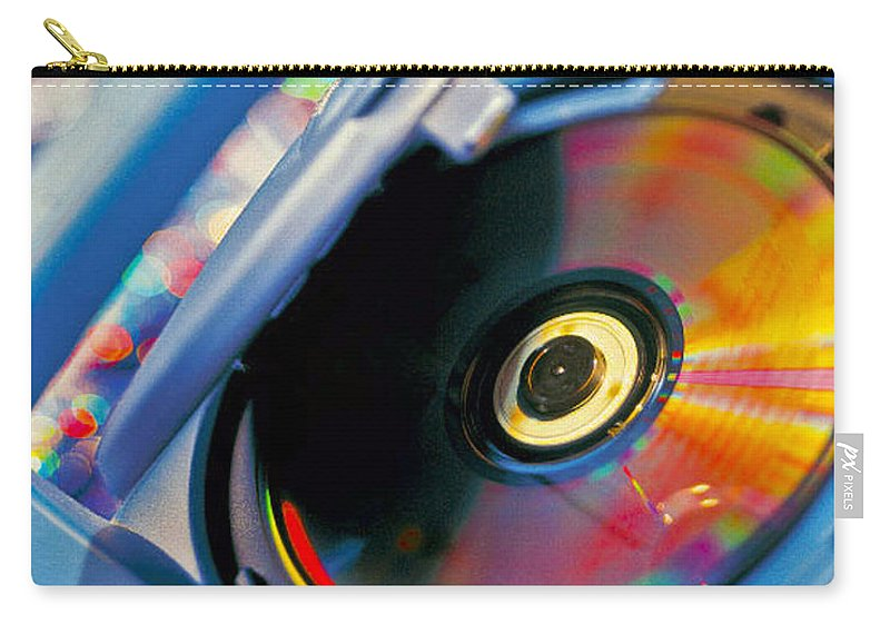 Cd Carry-all Pouch featuring the photograph Cd Player by Robert Ponzoni