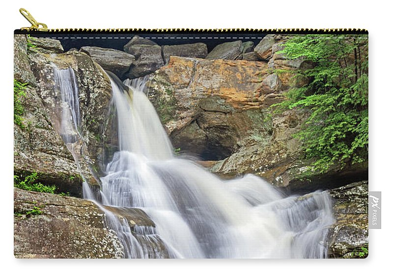 Cedar Falls Carry-all Pouch featuring the photograph Cedar Falls 9077 by Jerry Lohman