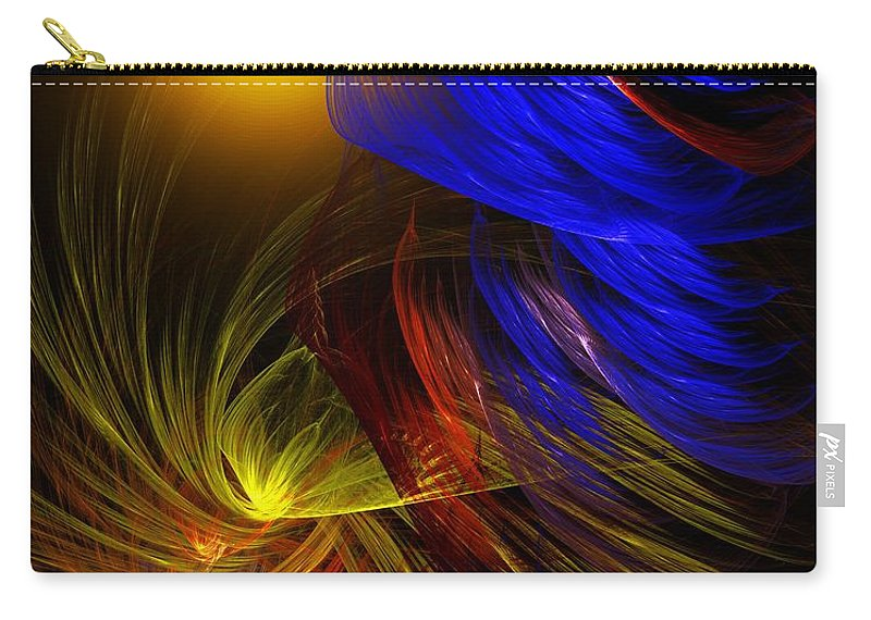Fine Art Carry-all Pouch featuring the digital art Celebrate by David Lane