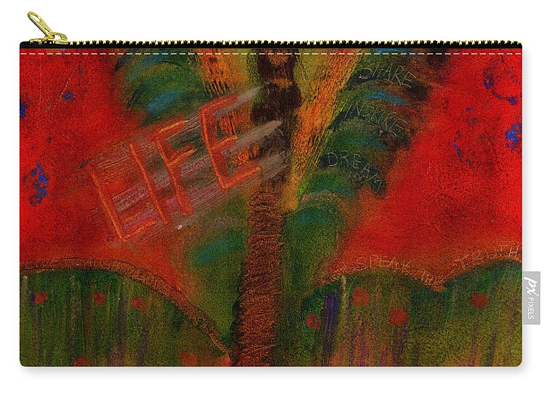Abstract Carry-all Pouch featuring the painting Celebrate Life by Angela L Walker