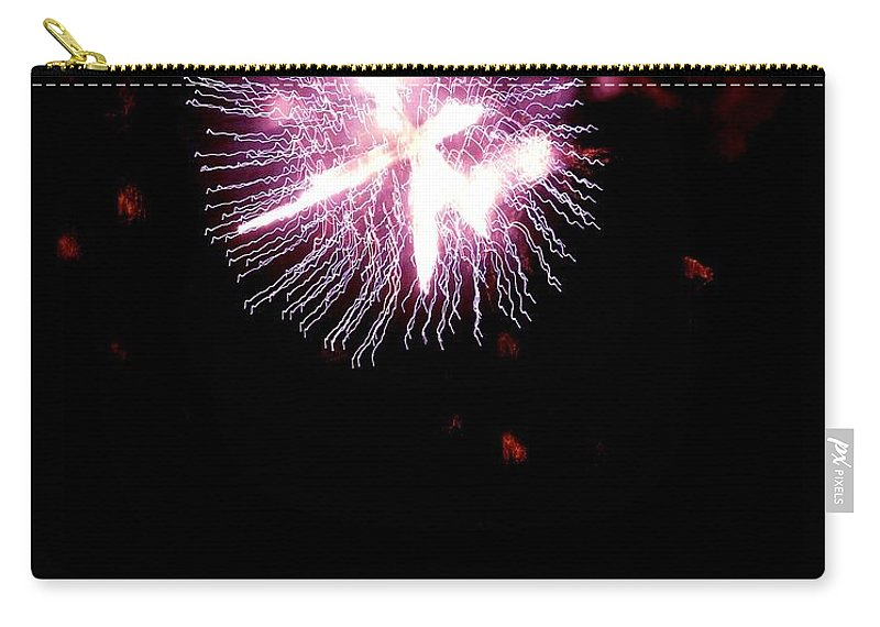 Fireworks Carry-all Pouch featuring the photograph Celebrate Life by Kendall Eutemey