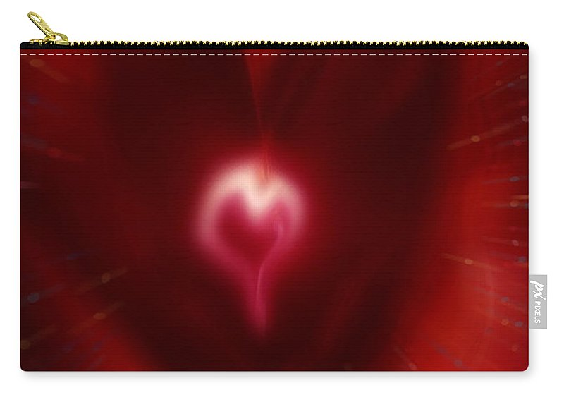 Hearts Carry-all Pouch featuring the digital art Celebrate Love by Linda Sannuti