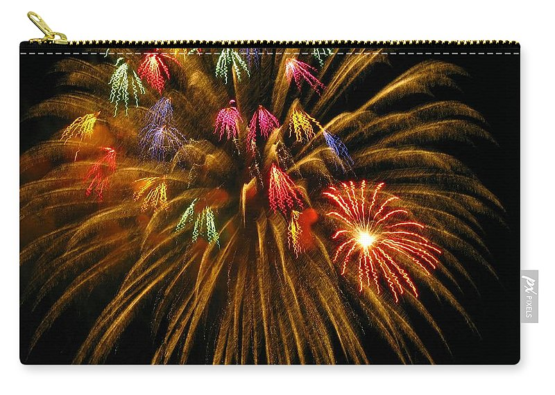 Fireworks Carry-all Pouch featuring the photograph Celebrate by Rhonda Barrett