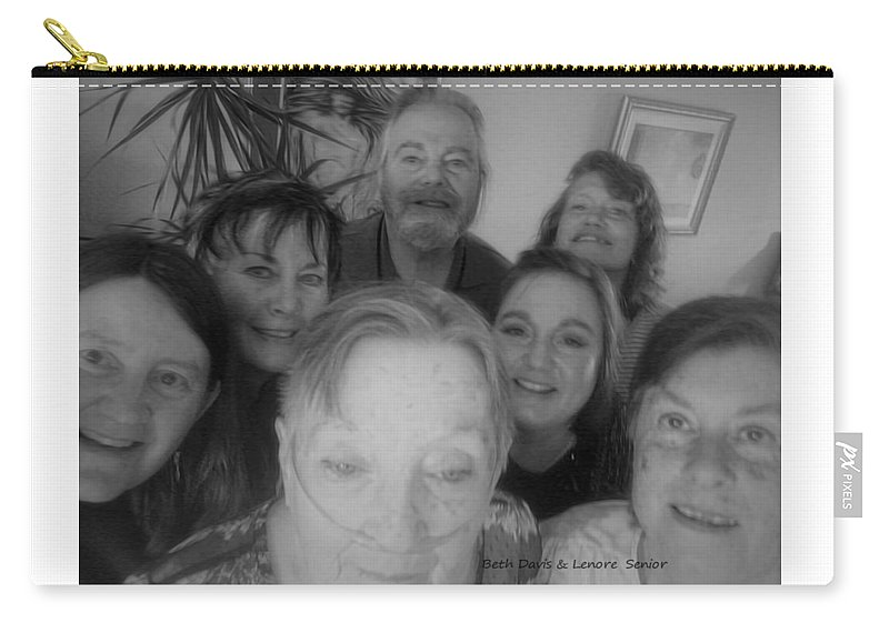 Expressive Carry-all Pouch featuring the digital art Celebrating With Friends by Lenore Senior