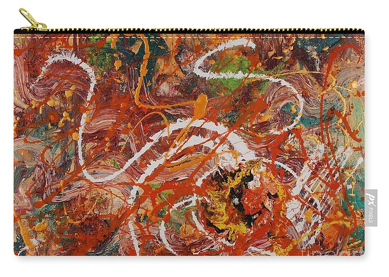 Orange Carry-all Pouch featuring the painting Celebration II by Nadine Rippelmeyer