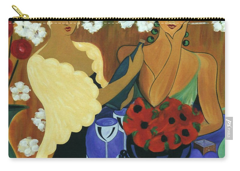 #female Carry-all Pouch featuring the painting Celebration by Jacquelinemari