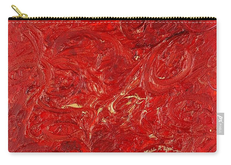 Red Carry-all Pouch featuring the painting Celebration by Nadine Rippelmeyer