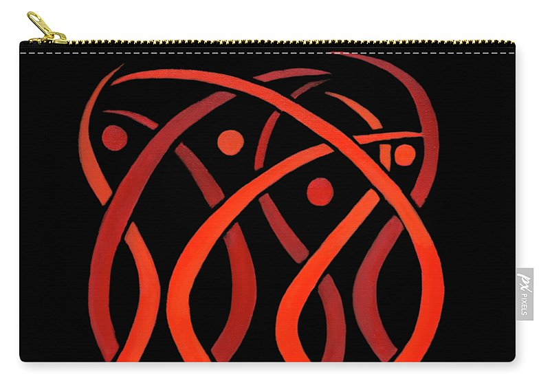Celestial Flames Carry-all Pouch featuring the painting Celestial Flames by Adamantini Feng shui