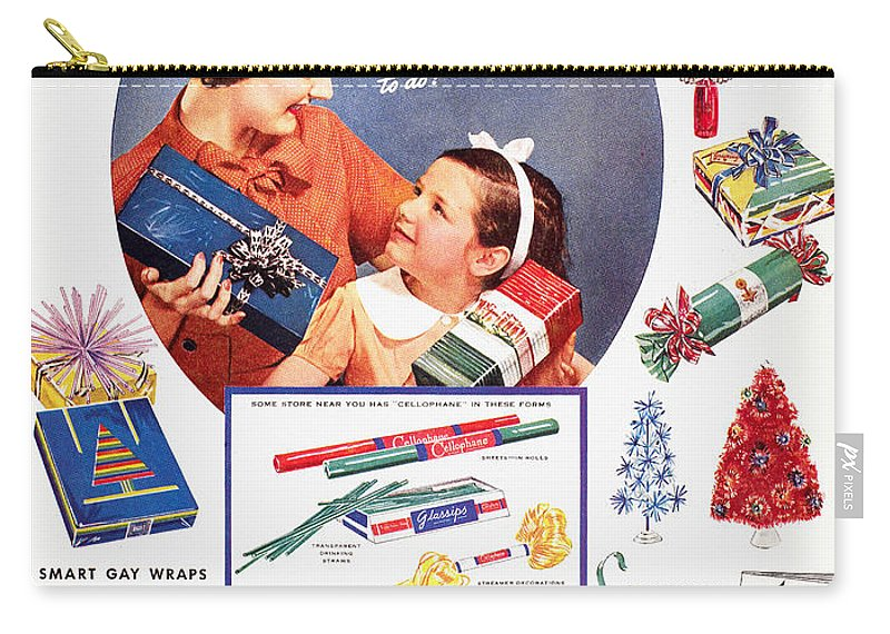 1937 Carry-all Pouch featuring the photograph Cellophane, 1937 by Granger