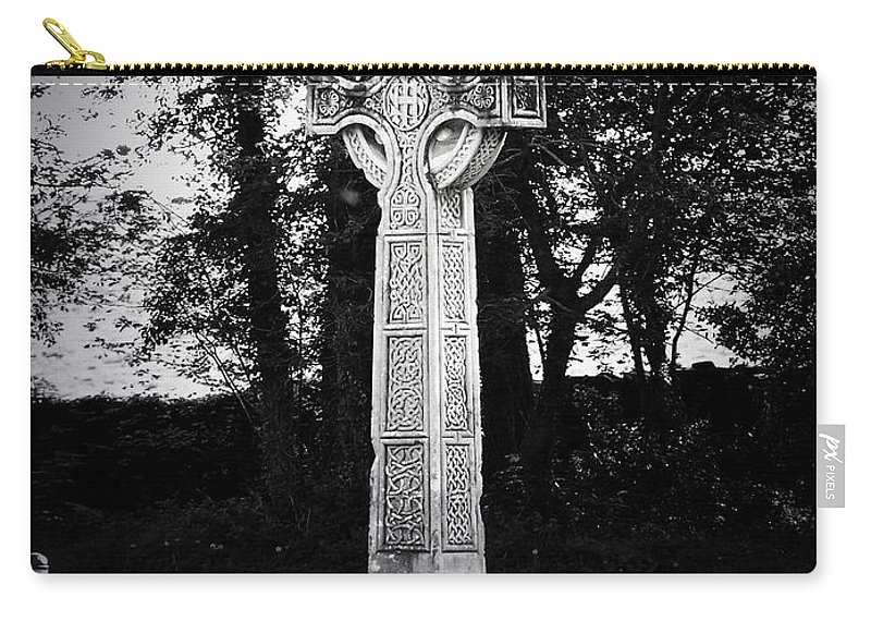 Irish Carry-all Pouch featuring the photograph Celtic Cross In Killarney Ireland by Teresa Mucha