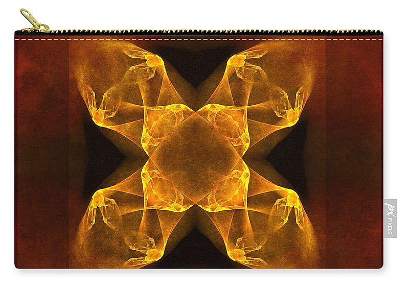 Gothic Carry-all Pouch featuring the digital art Celtic Gothica by Georgiana Romanovna