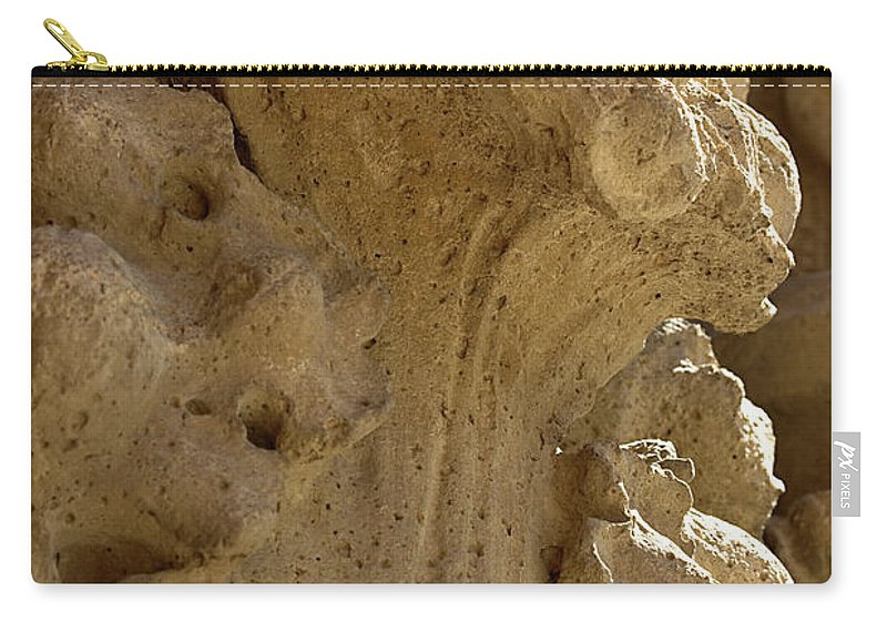 Piller Carry-all Pouch featuring the photograph Cement Flowers by Phyllis Denton