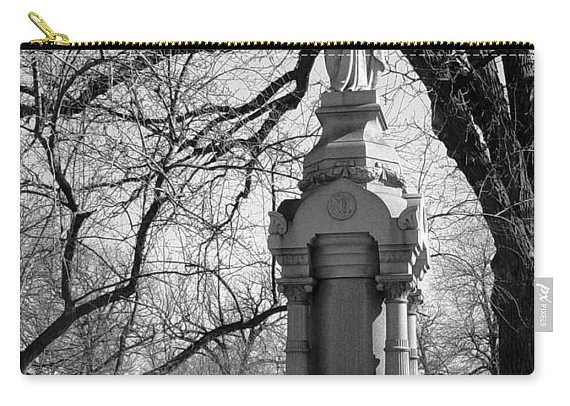 Cemetery Carry-all Pouch featuring the photograph Cemetery 1 by Anita Burgermeister