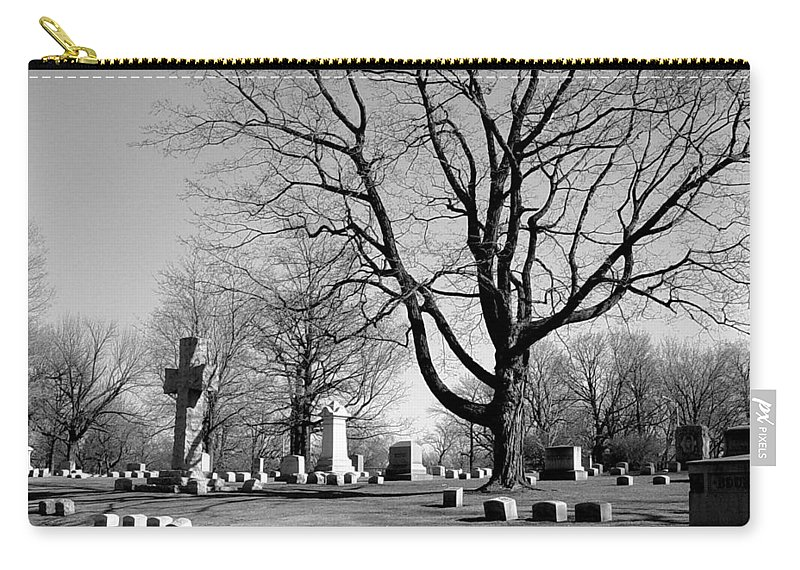 Cemetery Carry-all Pouch featuring the photograph Cemetery 5 by Anita Burgermeister