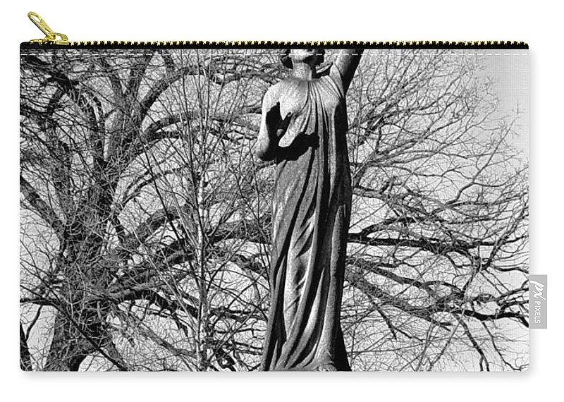 Cemetery Carry-all Pouch featuring the photograph Cemetery 6 by Anita Burgermeister