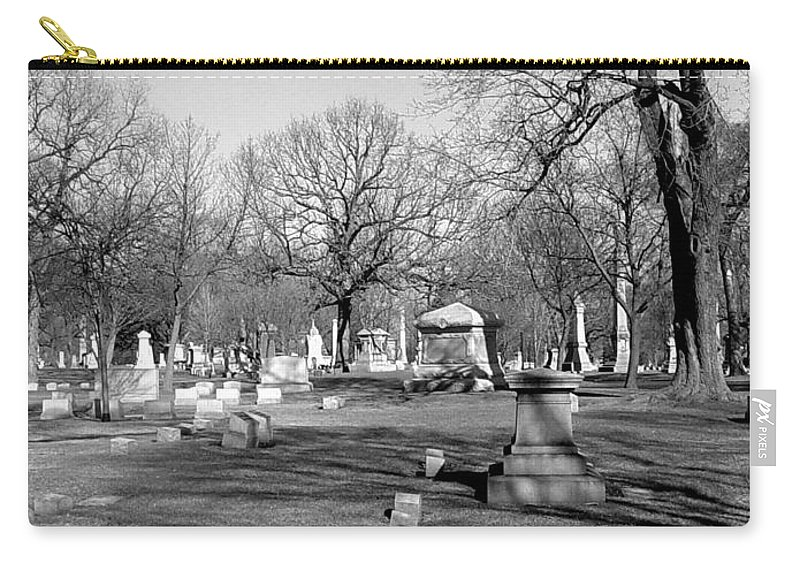 Cemetery Carry-all Pouch featuring the photograph Cemetery 7 by Anita Burgermeister