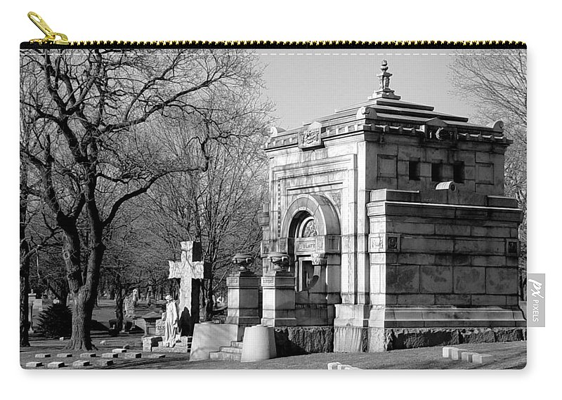 Cemetery Carry-all Pouch featuring the photograph Cemetery 8 by Anita Burgermeister