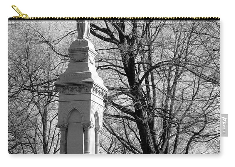 Cemetery Carry-all Pouch featuring the photograph Cemetery 9 by Anita Burgermeister