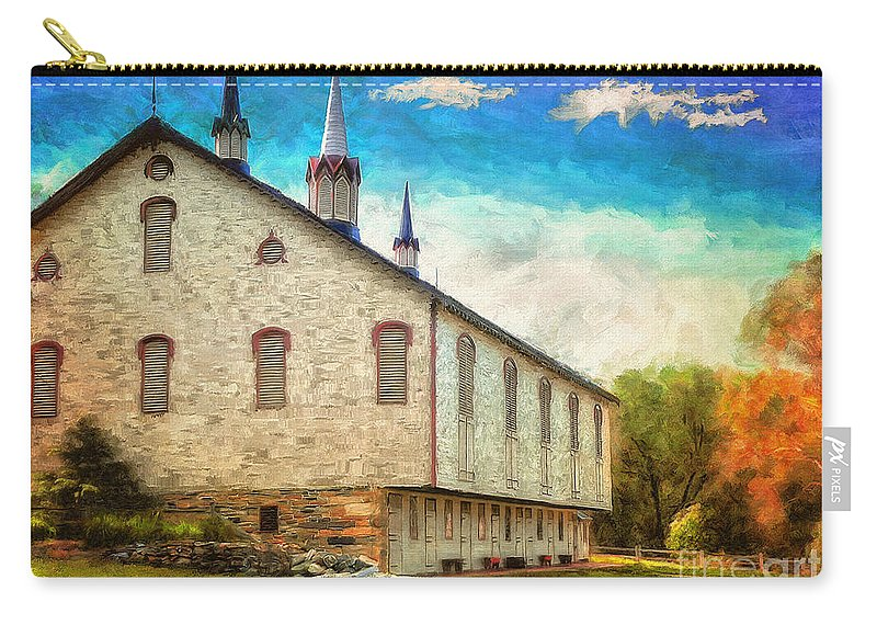 Lois Bryan Carry-all Pouch featuring the digital art Centennial Barn by Lois Bryan