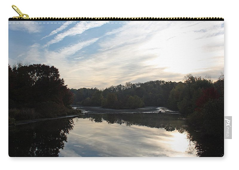 Centennial Carry-all Pouch featuring the photograph Centennial Lake Autumn - Great View From The Bridge by Ronald Reid