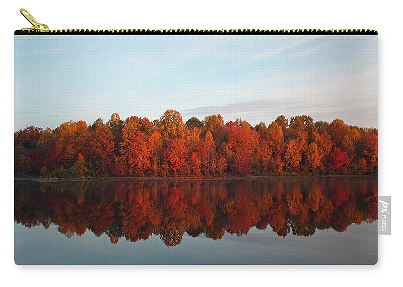 Centennial Carry-all Pouch featuring the photograph Centennial Lake Autumn - In Full Autumn Bloom by Ronald Reid