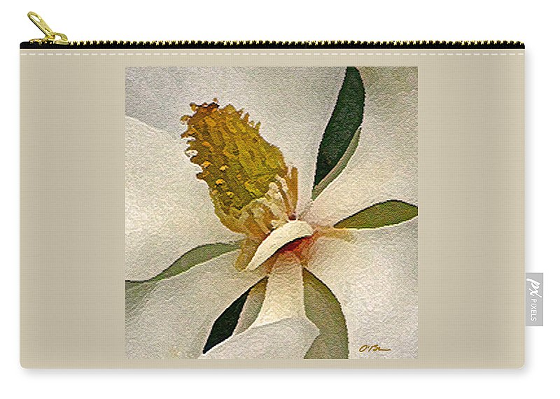 Flower Carry-all Pouch featuring the digital art Center Of Being by Claudia O'Brien