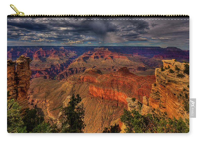 Grand Canyon Carry-all Pouch featuring the photograph Center Stage by Beth Sargent