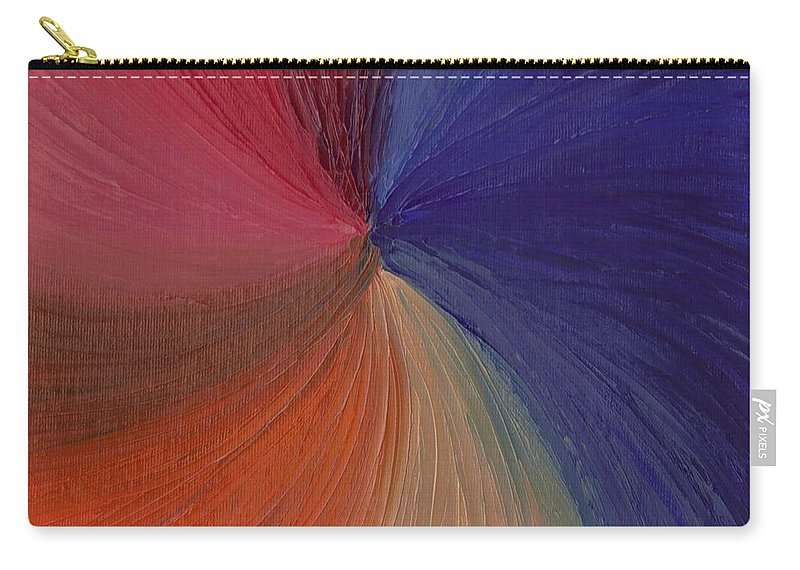 Oils Carry-all Pouch featuring the painting Centered Oil Swirls by Jill Christensen