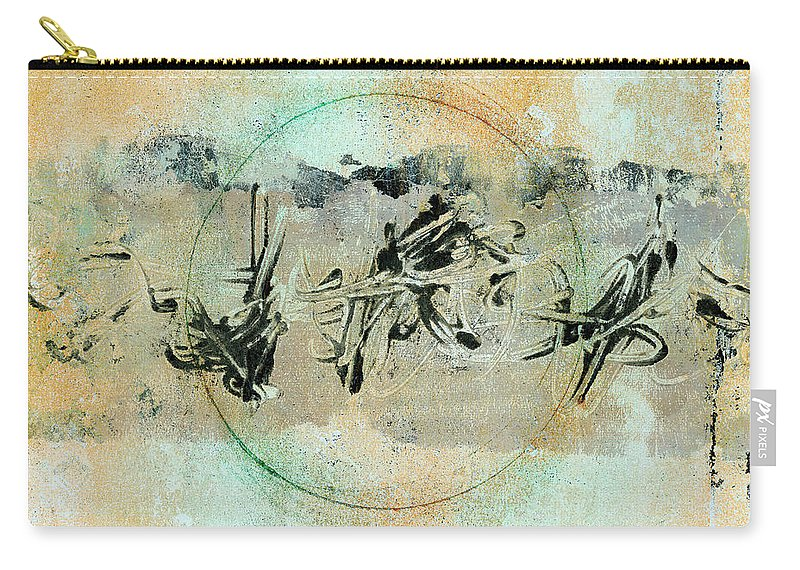 Abstract Carry-all Pouch featuring the mixed media Centered Within Chaos by Carol Leigh