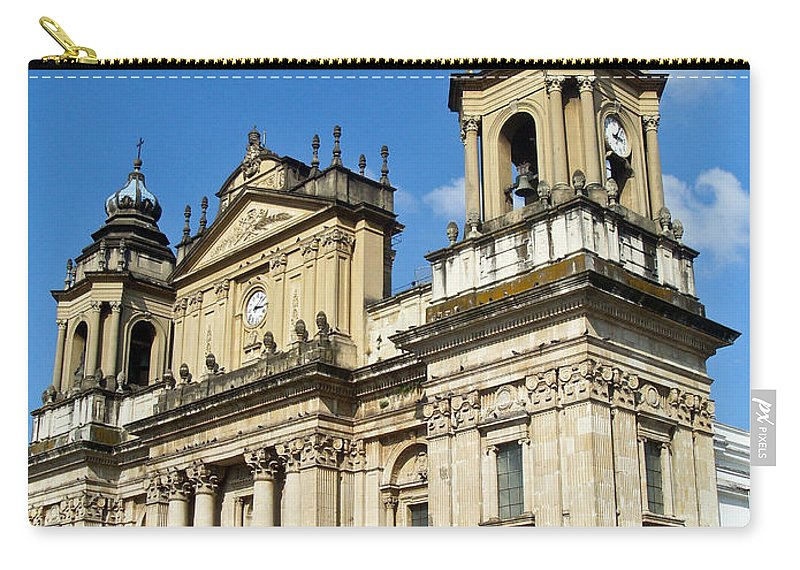 Central Carry-all Pouch featuring the photograph Central Church Guatemala City 1 by Douglas Barnett