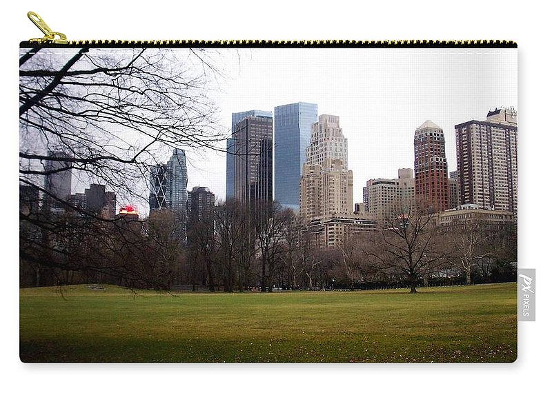 Central Park Carry-all Pouch featuring the photograph Central Park by Anita Burgermeister