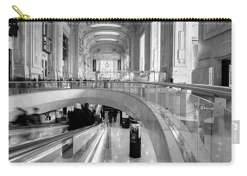 Italy Carry-all Pouch featuring the photograph Central Station Milan 2 by Wolfgang Stocker