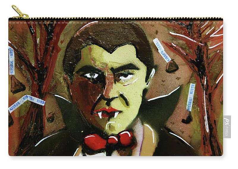 Count Chocula Carry-all Pouch featuring the painting Cereal Killers - Count Chocula by eVol i