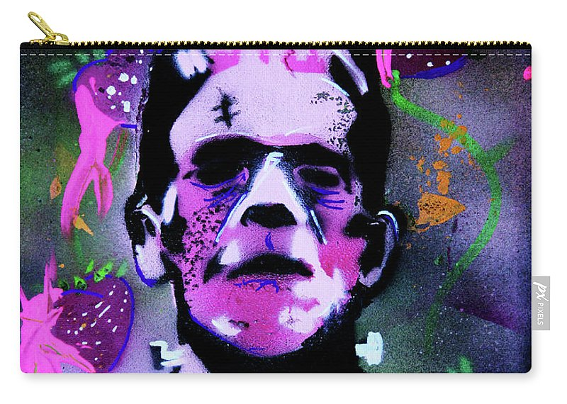 Cereal Killers Carry-all Pouch featuring the painting Cereal Killers - Frankenberry by eVol i