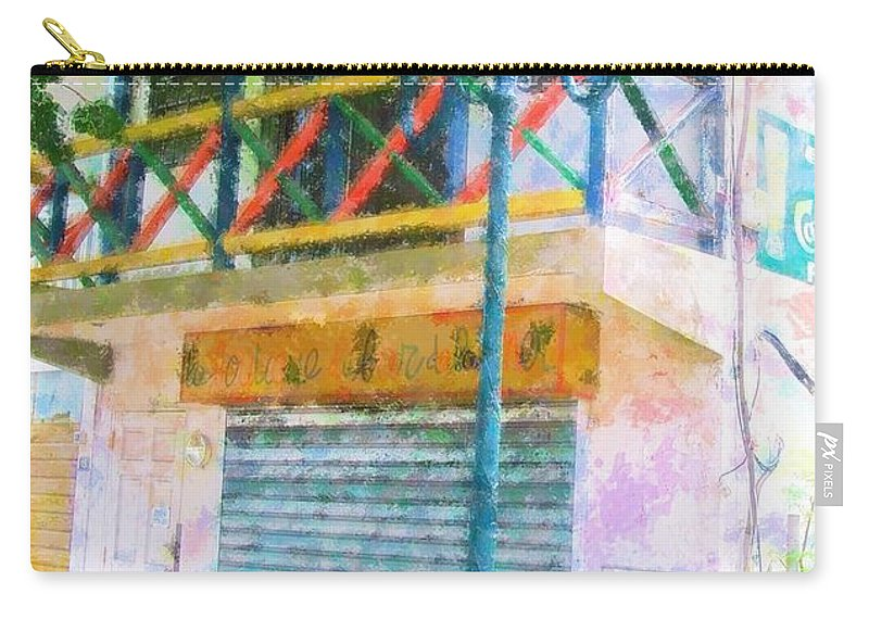 St. Martin Carry-all Pouch featuring the photograph Cest La Vie by Debbi Granruth